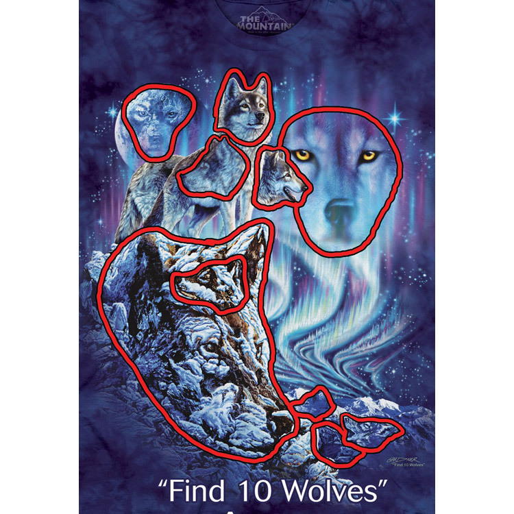 4858ab0d Kids Find 10 Wolves T-shirt | Children's Wolf T-shirts | The Mountain®